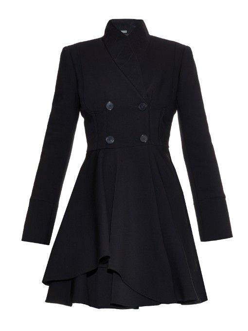 Alexander McQueen Double-breasted wool-blend coat