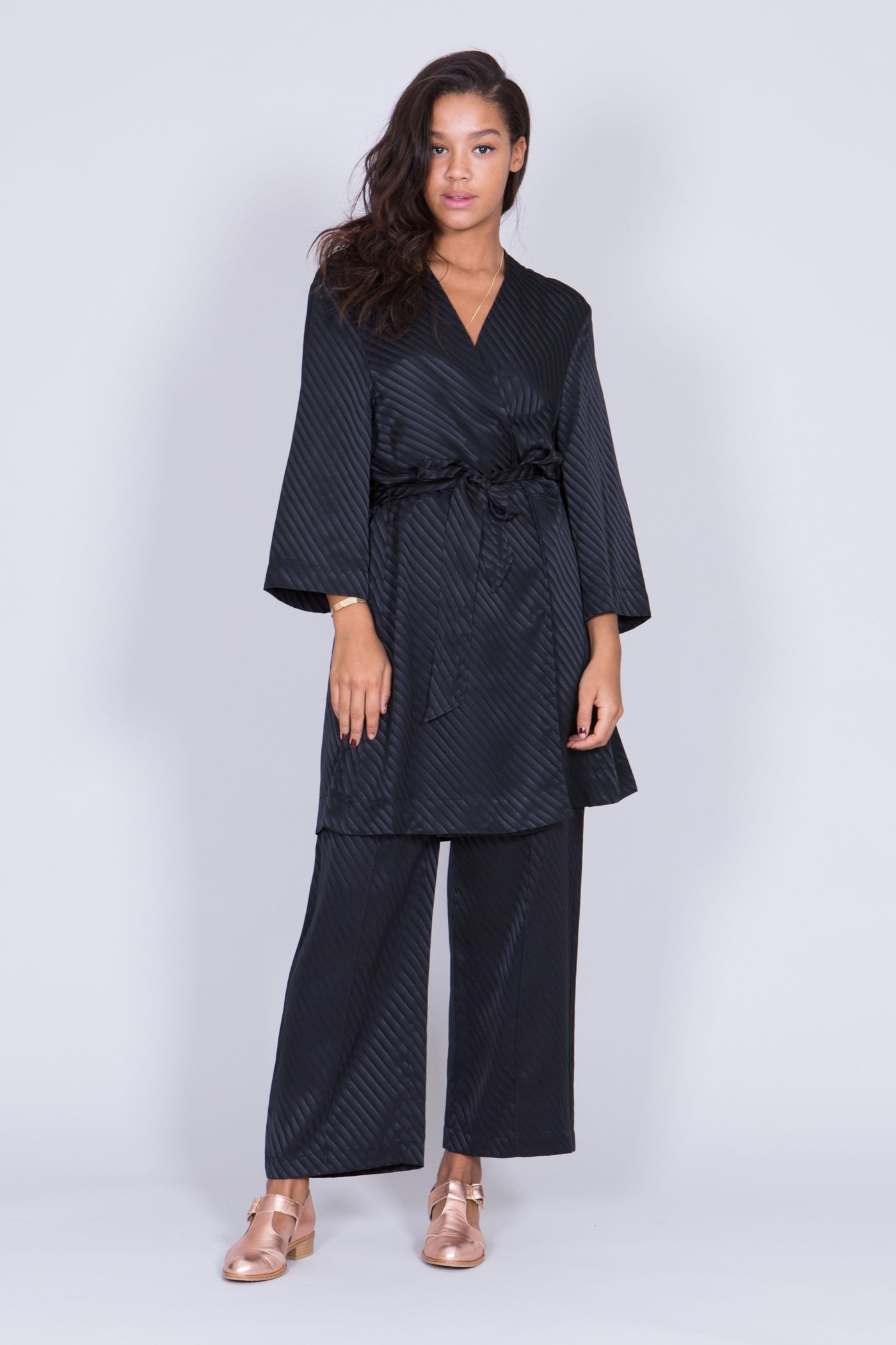 'Garcia' fine silk kimono dress by Danish fashion brand Ganni︱ Cropped, wide sleeves︱ www.grandpa.se︱ Scandinavian fashion and home decor︱ Shipping to Europe and the US