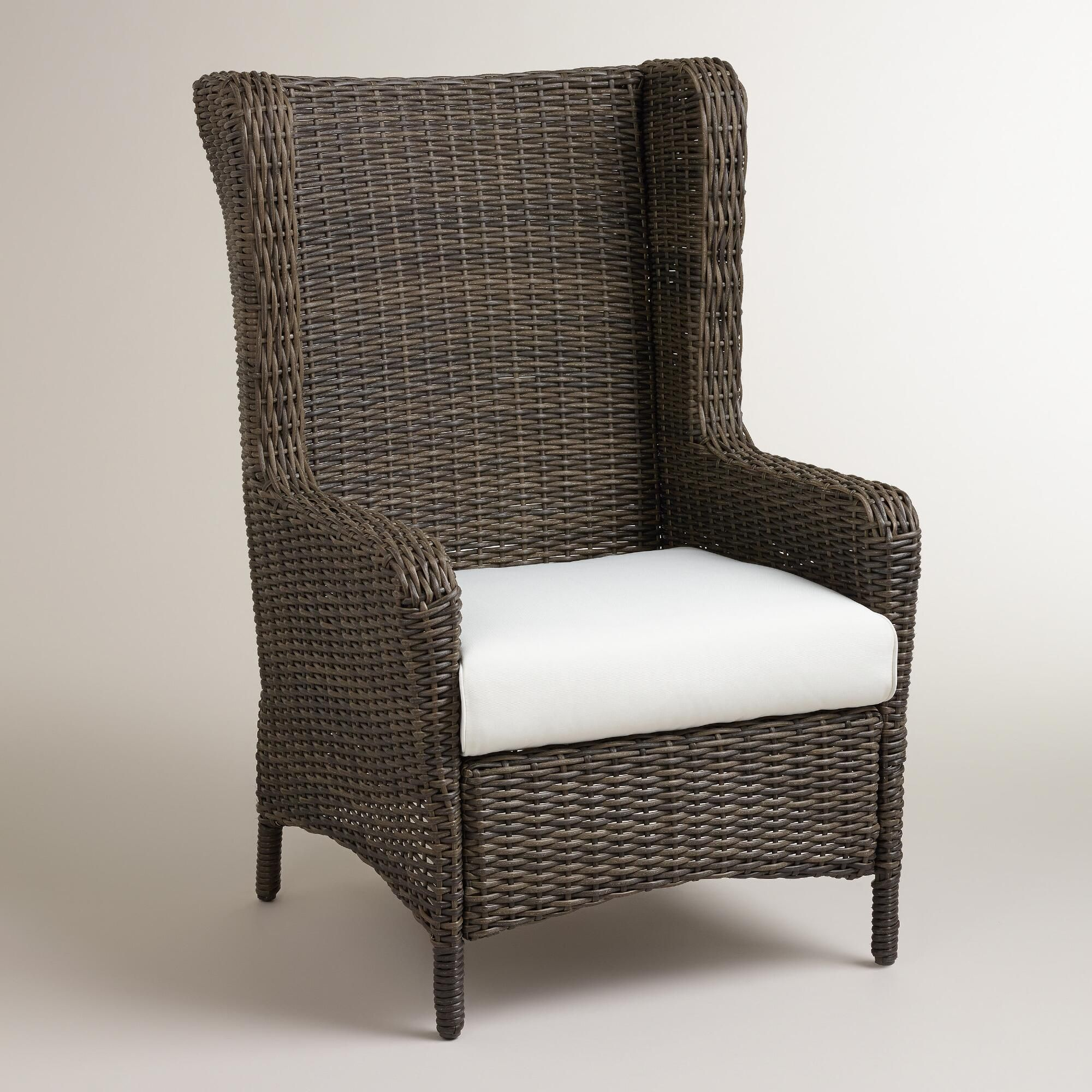 Himara allweather wicker wingback chair world market