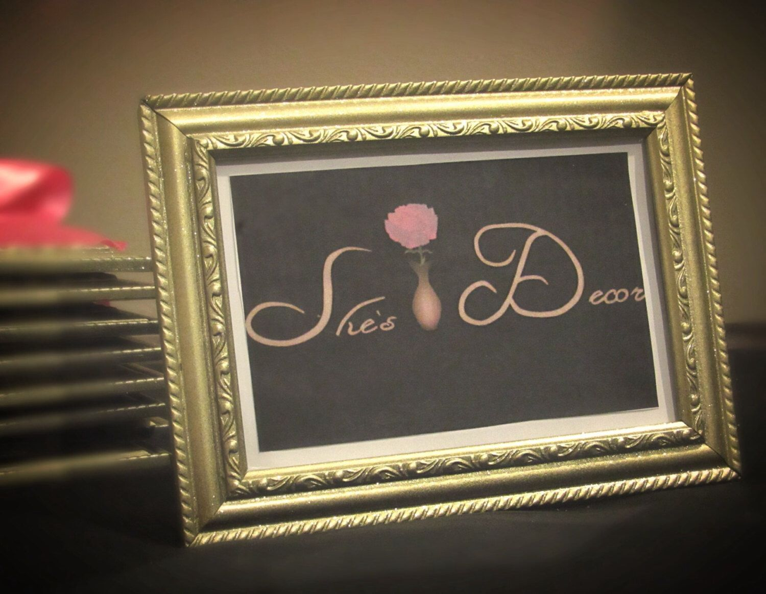 Gold picture frame, 4x6, 5x7, 8x10, sparkling, gold glitter paint ...