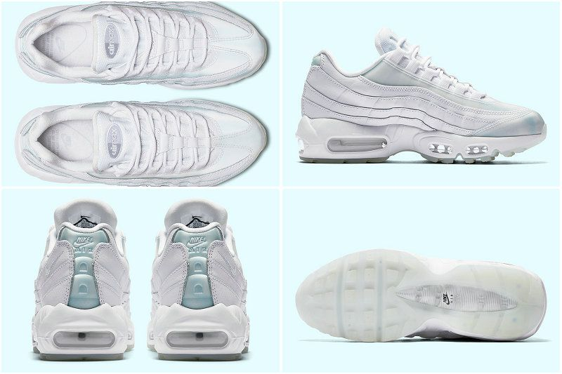 check out ffdbd fb688 2017 Fall Winter New NIKE WMNS AIR MAX 95 SE Iridescent Ice White Pure  Platinum Ice