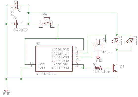 3 50 diy tv b gone micro diy tv rh pinterest com TV Circuit Board Diagram Circuit Block Diagram