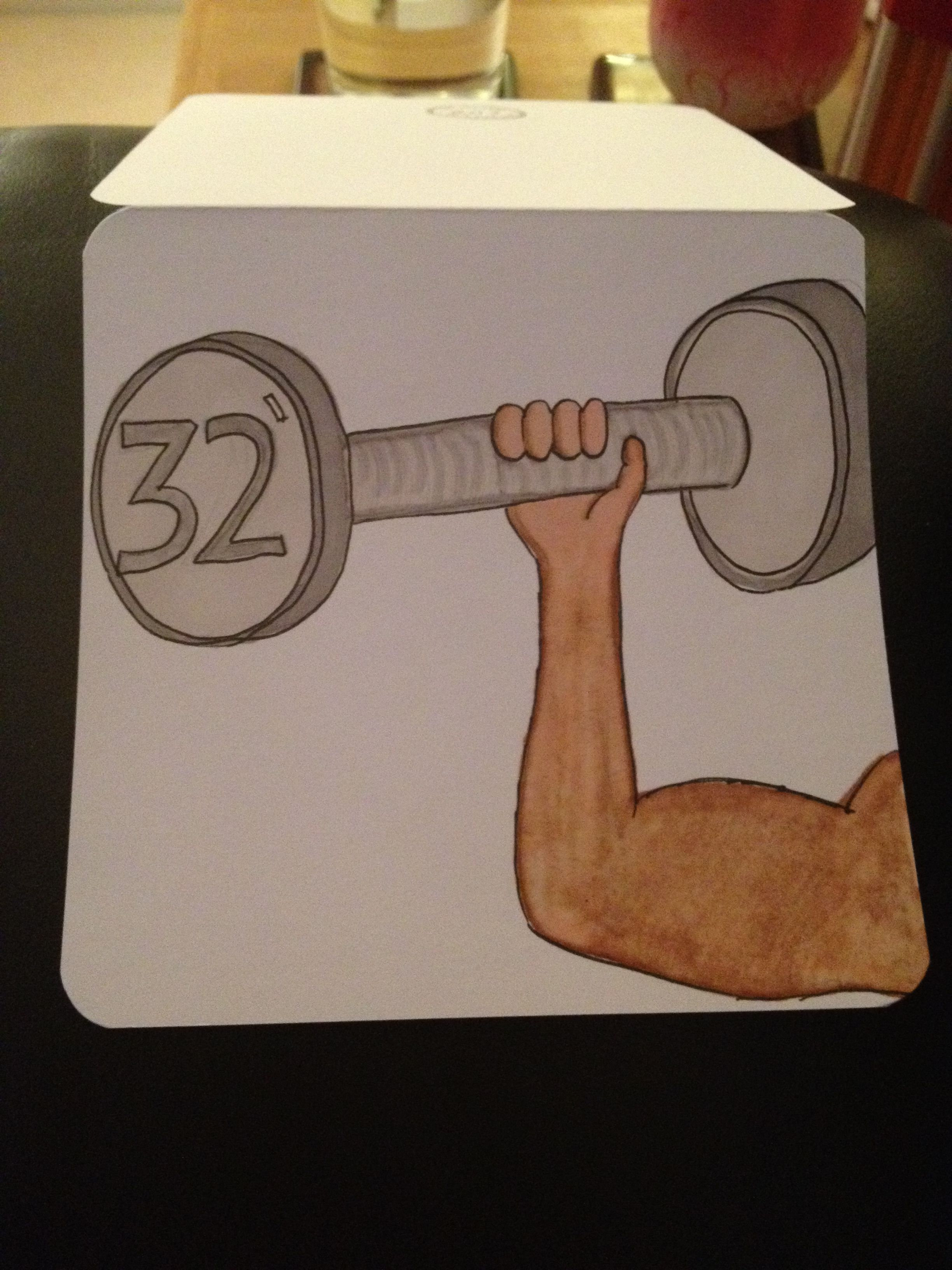 Gym Lovers Birthday Card Age Is On Weight With Images
