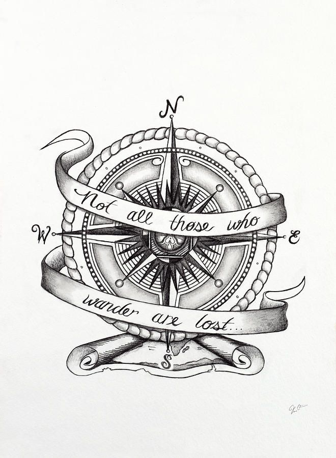 Compass Drawing Compass Drawing By Jon Cotroneo In 2020 Vintage Compass Tattoo Compass Tattoo Compass Tattoo Men