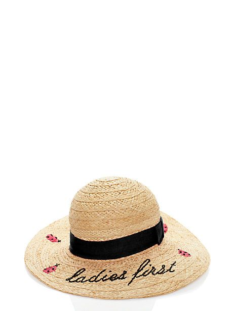 a1277d5ea ladies first straw sun hat | Products | Hats, Sun hats, Kate spade