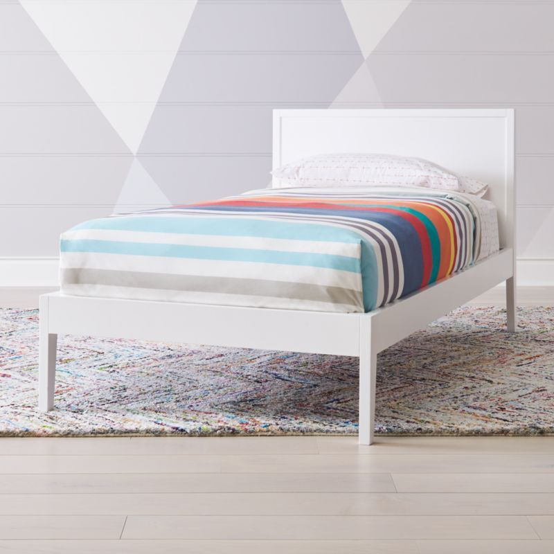 Ever Simple White Twin Bed Reviews Crate And Barrel White