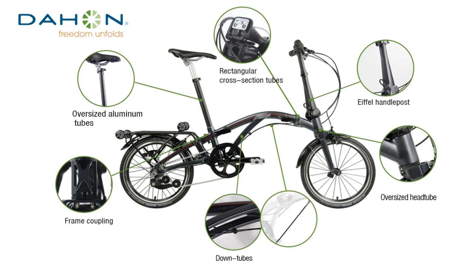 Dahon Curl Ultra Compact Folding Bike Foldable Bikes Folding