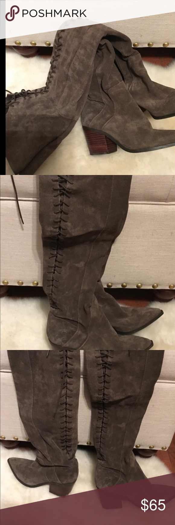 bede0069070 Also suede lace up boots Small heel barley worn from Aldo size 6 1 2