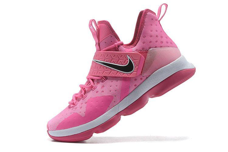 ea13a36eea8 New LBJ Sneakers LeBron 14 XIV Shoes 2017 Aunt Pearl Think Pink Vivid Pink  Arctic Pink