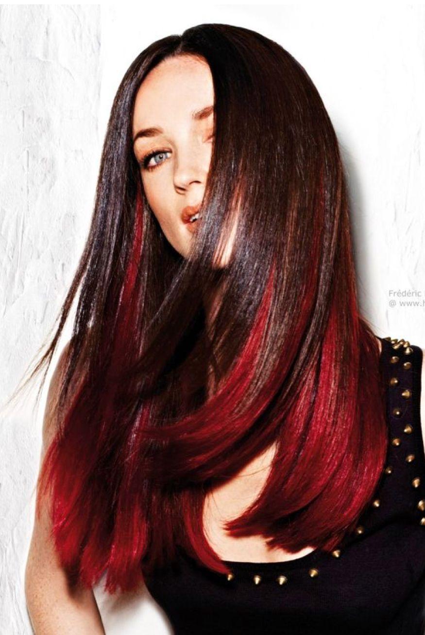 8 Auburn Hair With Black Underneath