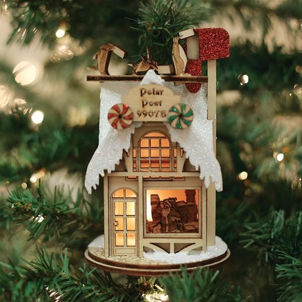 Polar Post Office Old World Christmas Ornament 80021 In 2020 Old World Christmas Ornaments Old World Christmas Wooden Christmas Tree Decorations