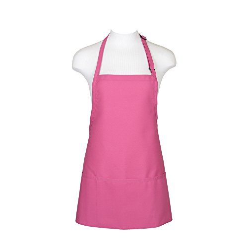 This Hot Pink 3 Pocket Bib Apron has 3 Divisional Pouch Pockets and 2 Piece Neck Adjustment Slider. Fabric is 7.5oz ultra-durable 65/35 Poly-Cotton Twill. Size 24' Length X 28' Width. Fabric has a Pro...