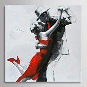 pintura al óleo pintada a mano de la gente pa... – USD $ 82.93