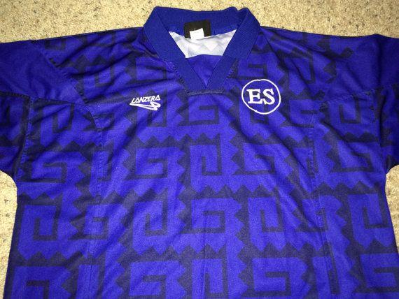 e1e34e872 ... Sale Vintage Lanzera 1998 EL SALVADOR Soccer Jersey by casualisme El  Salvador 2017-2018 Away ...
