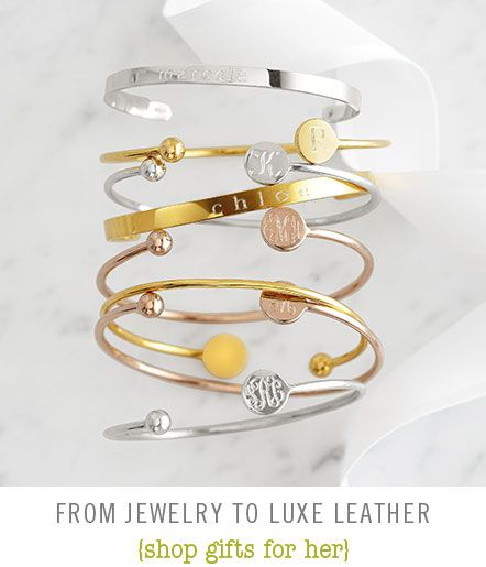 It's The Little Things: monogrammed bracelets