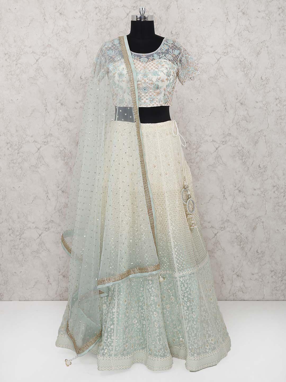 79896597d8 Exclusive White Color Lehenga Choli In Georgette, Designer white lehenga  choli for function, designer