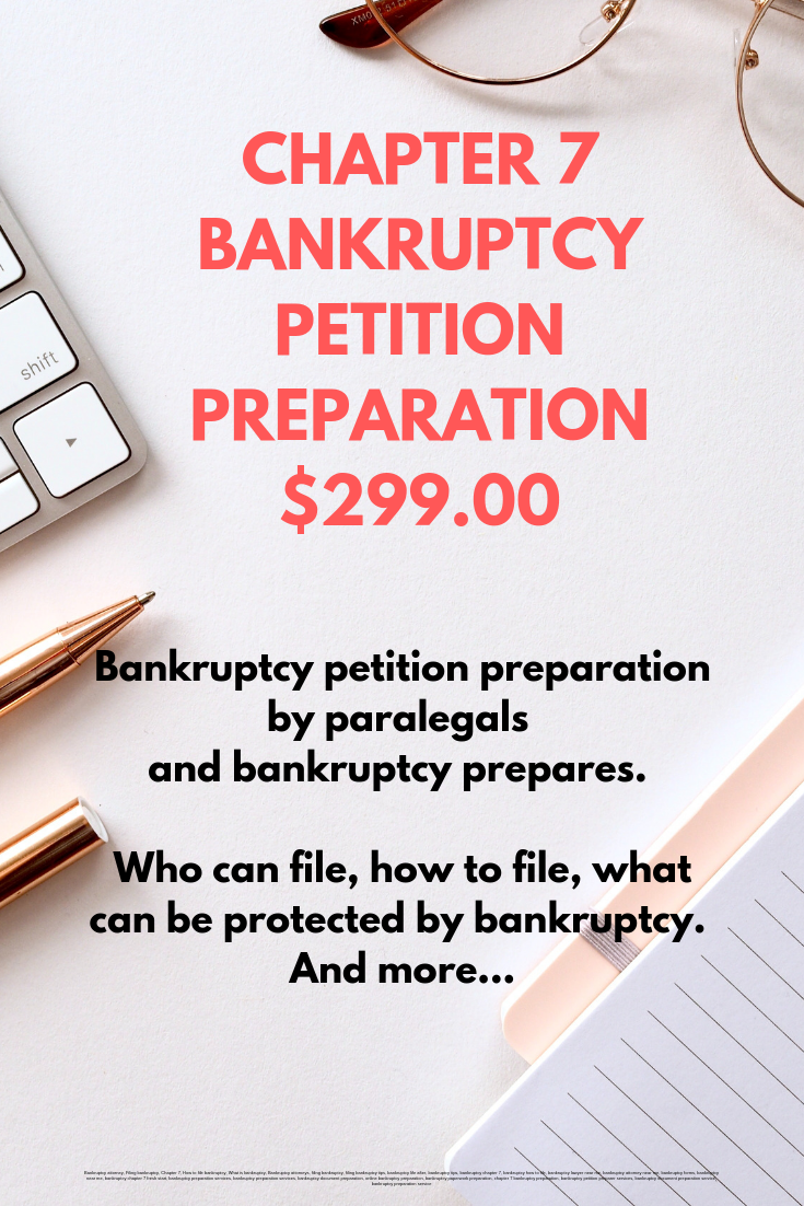 Jd Mba Bankruptcy Chapter 7 Petition Preparation 299 00 Bankruptcy Preparation And Filing Credit Repair Business Credit Repair Companies Credit Repair