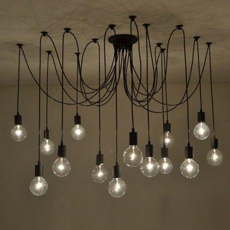 14 Lights Edison Retro Spider Pendant Light Lighting AC 110-240V