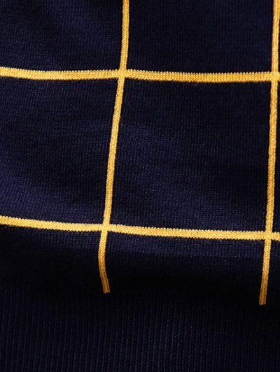 Crew Neck Slim Fit Grid Sweater Crew Neck Slim Fit Grid Sweater ,
