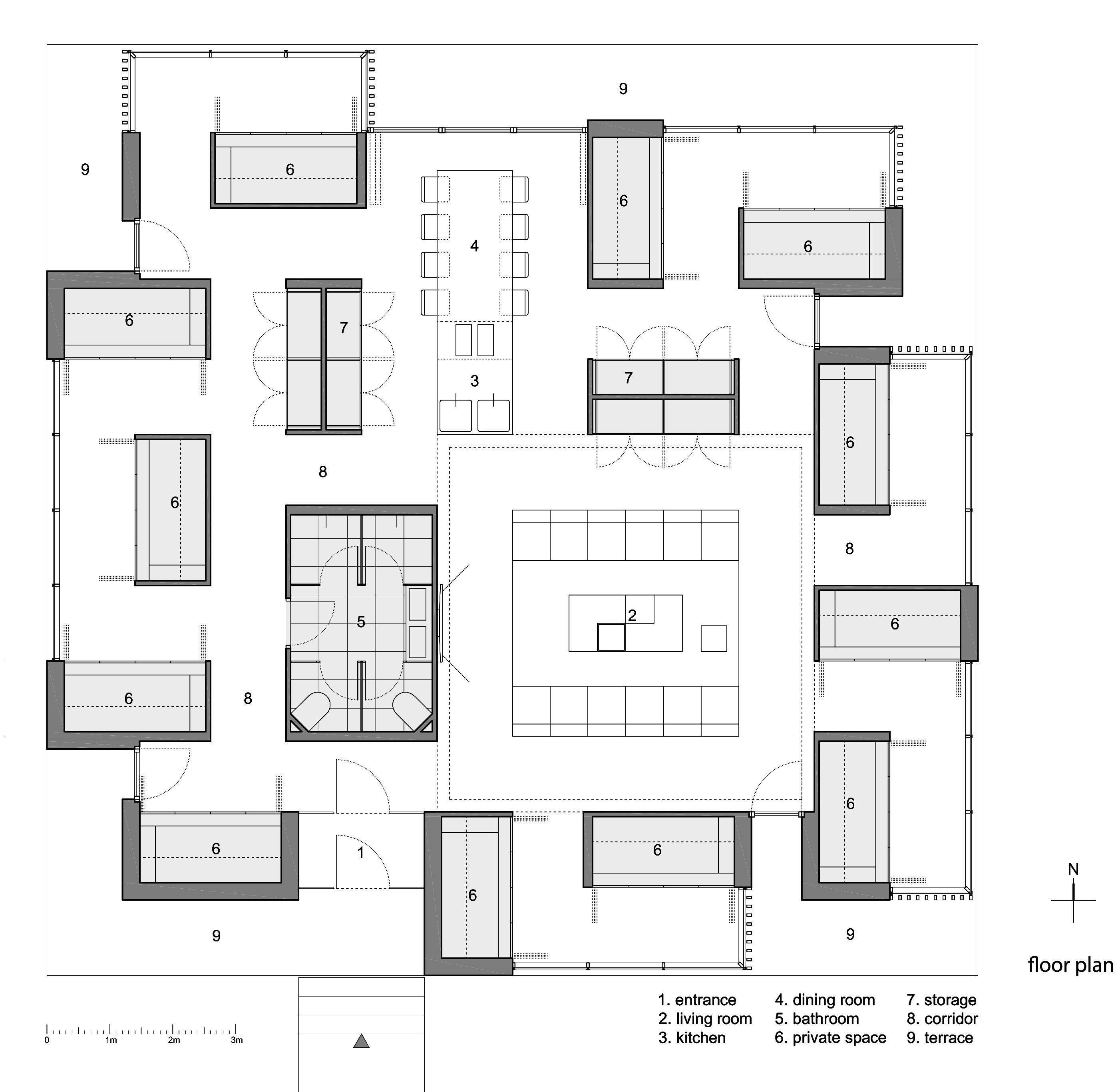 Open Source House Design Competition Unique Co Living House Studio Alfirevia A Ora E Alfirevia Sanja Simonovia Design Competitions Design House Design