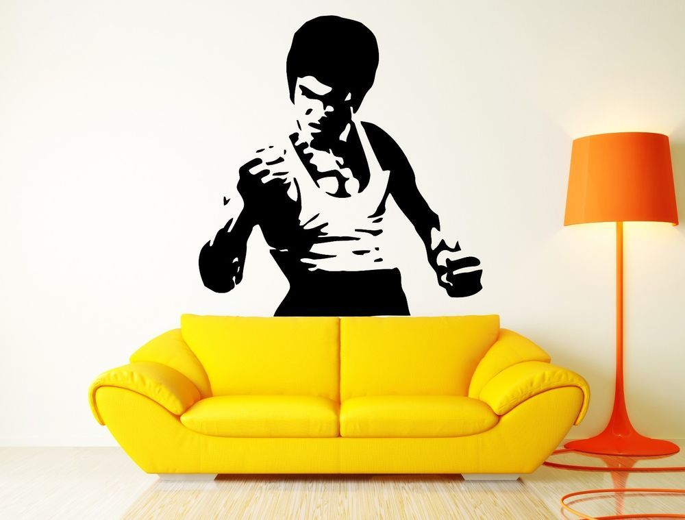 Wall Decal Movie Star Bruce Lee Martial Arts Karate Cool Cool Decor ...