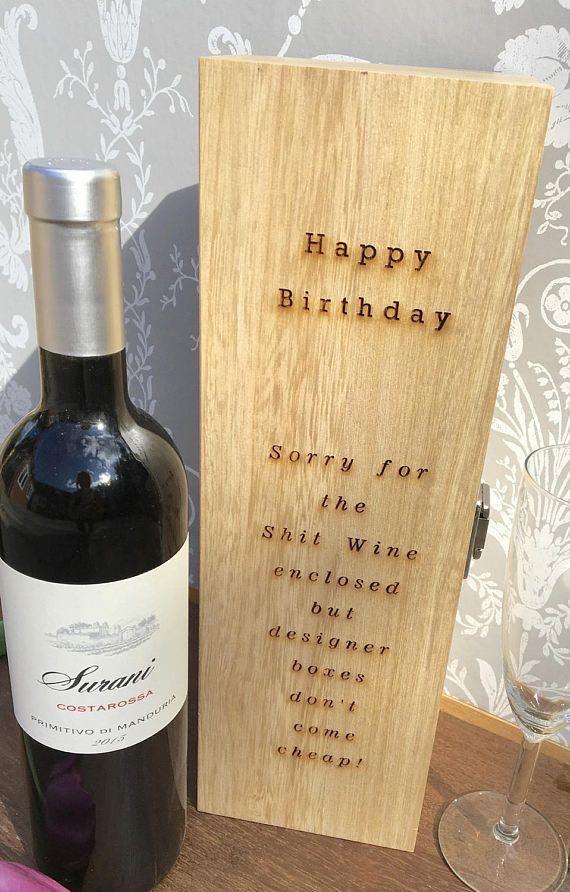 Personalised Celebration Engraved Wine Box Gift