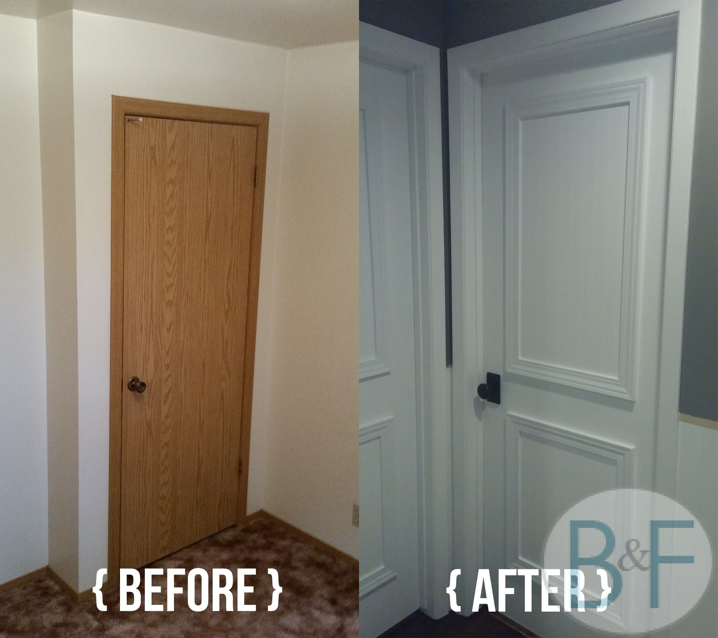 Painting Trim White Before And After