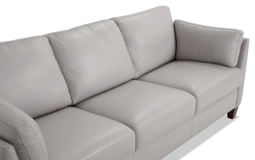 Antonio Light Gray Leather Bob O Pedic Queen Sleeper Sofa Bobs Com Sleeper Sofa Sofa Leather Sleeper Sofa