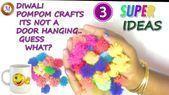3 Pompon Dekoration / DIY DIWALI Dekoration / Wohnkultur Ideen für Diwali www.youtub #diwalid...