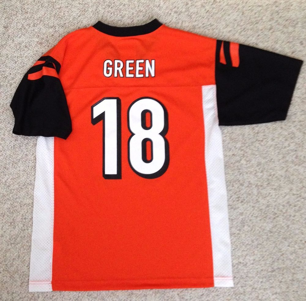 Youth Lrg (may fit small women adult) A.J.GREEN CINCINNATI BENGALS JERSEY aj 71804a445