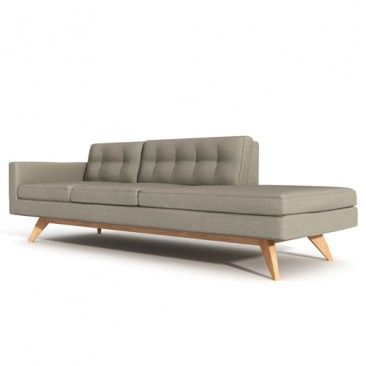 Luna One Arm Sofa With Chaise Truemodern Sofa With Chaise