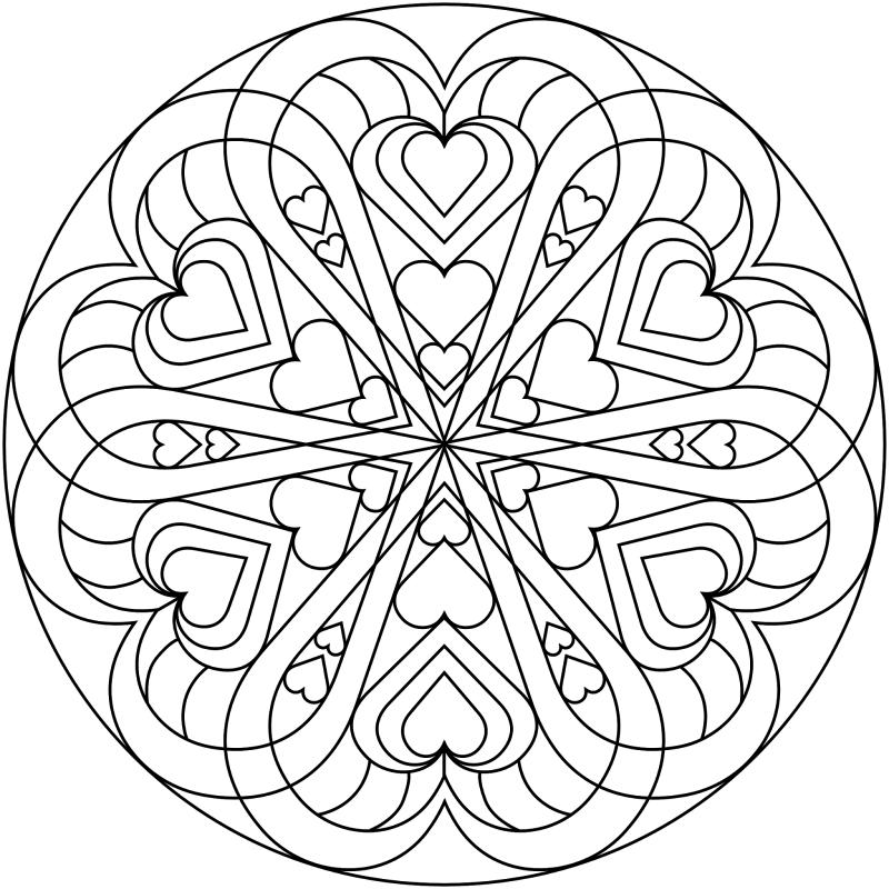 mandalas amor para pintar   mandalas dos   Pinterest   Mandalas ...