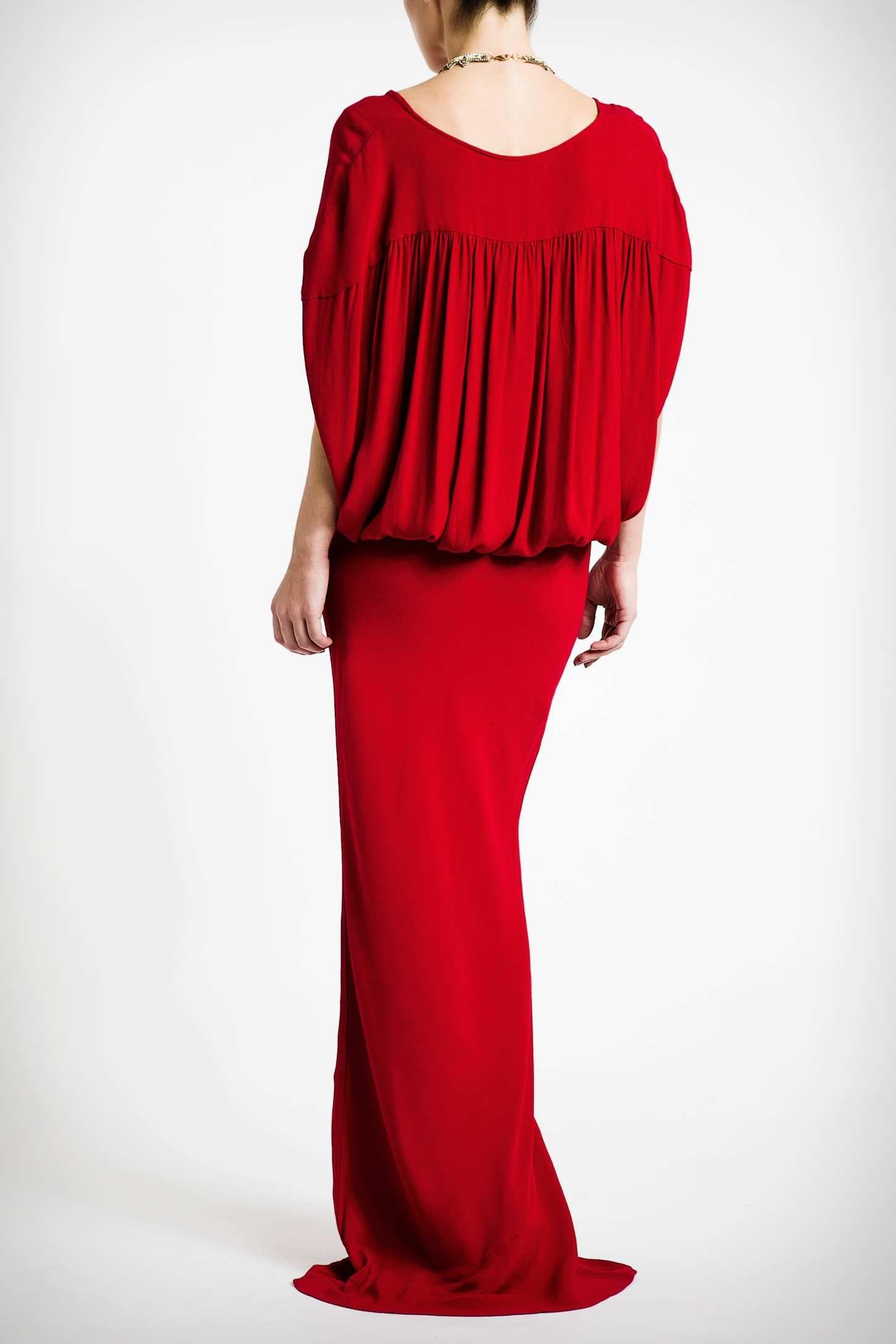 Back opulent maxi dress met afbeeldingen