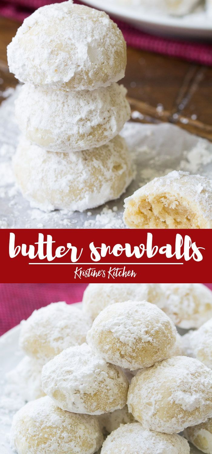 These butter snowball cookies are a Christmas favorite Make this easy recipe with pecans or walnuts These melt in your mouth holiday cookies are rolled in powdered sugar...