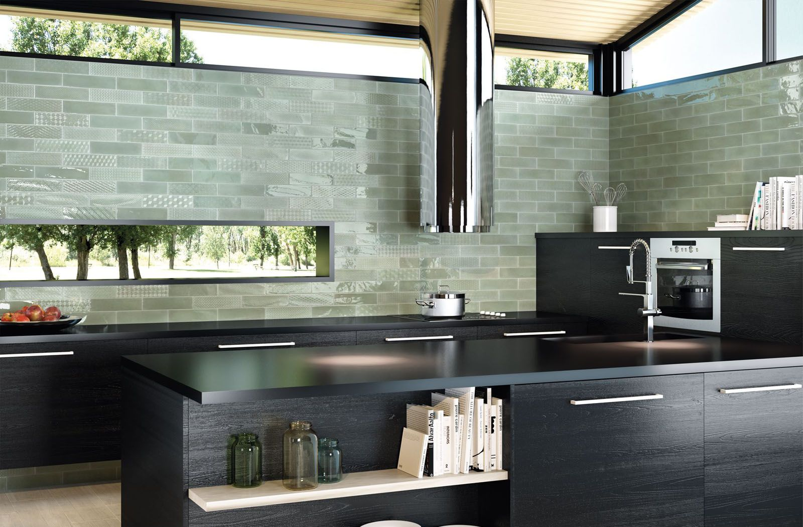 Kitchen backsplash decor ideas with Opal tiles from Cifre