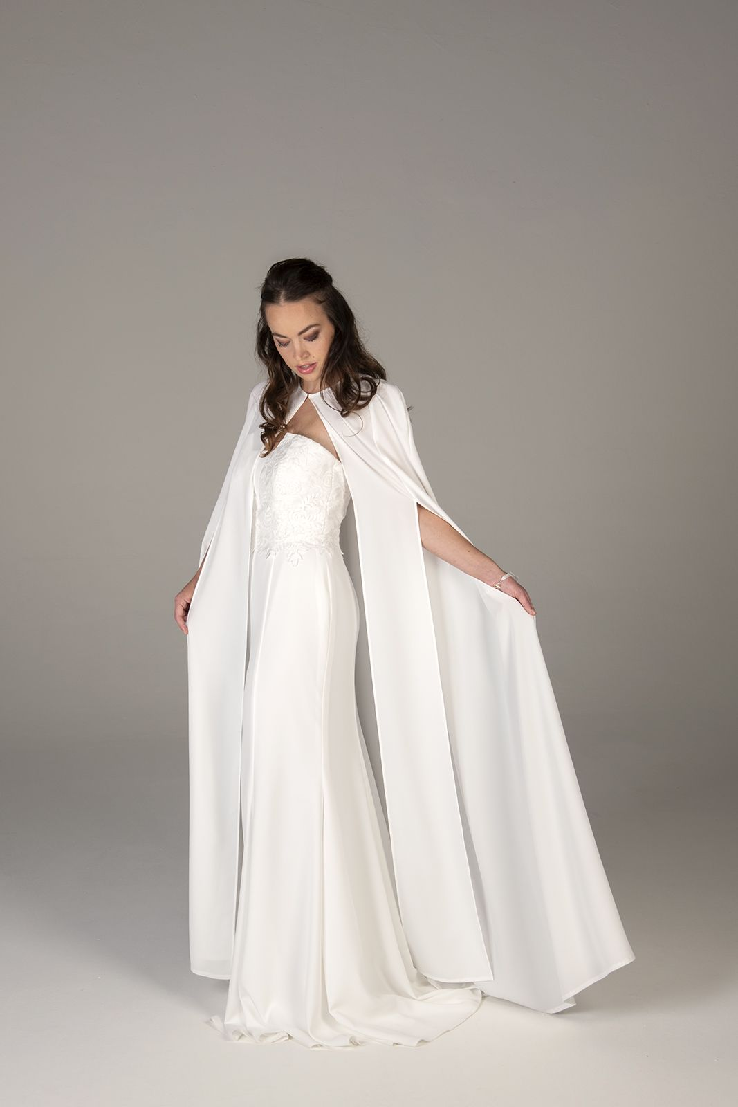2123d446c3 ... 1300 Want to be more covered up during your wedding ceremony  Use a  cape! A cape can cover up a sexy dress that your pastor wouldn t allow so  you ...