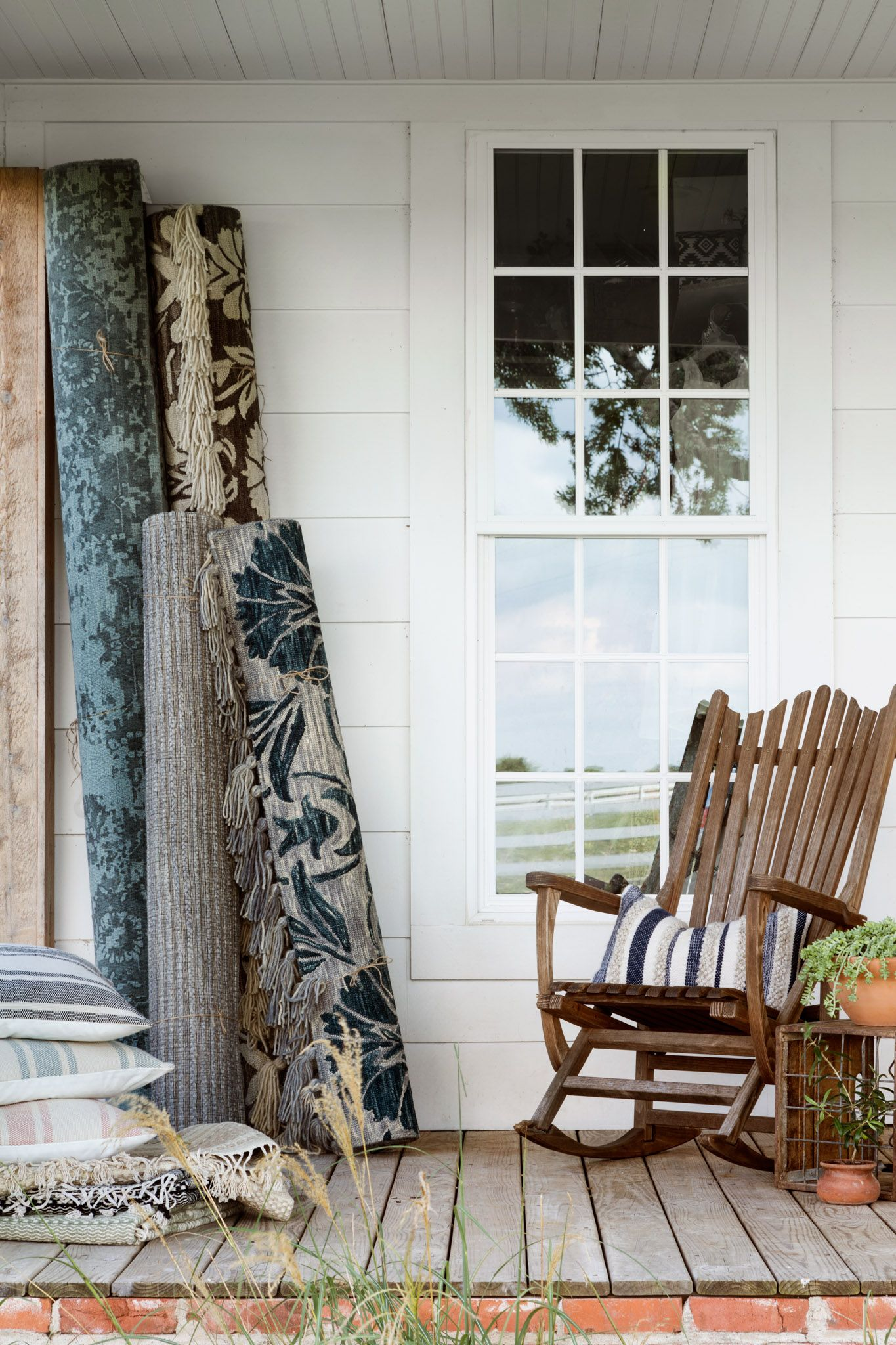 Joanna Gaines Idyllic Front Porch Featuring A Few Of The