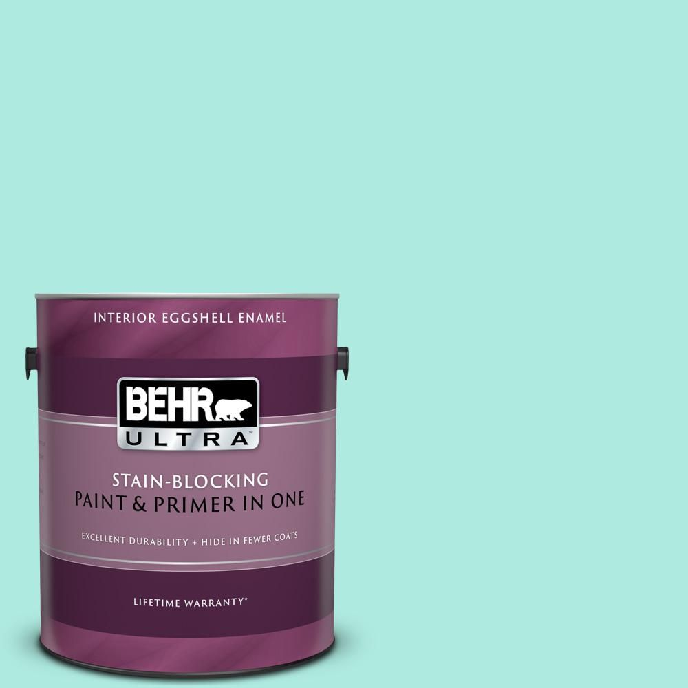 Behr Ultra 1 Gal Mq4 23 Aloha Eggshell Enamel Interior Paint And Primer In One 275001 With Images Interior Paint Behr Ultra Behr