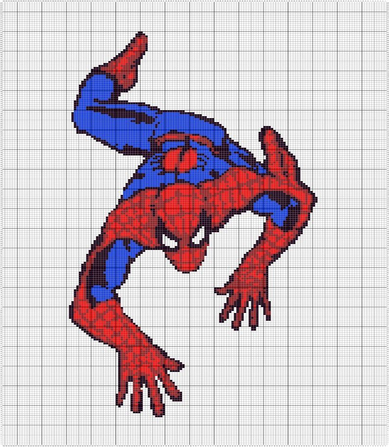 Spiderman Tapestry Crochet Afghan Pattern Written and ...