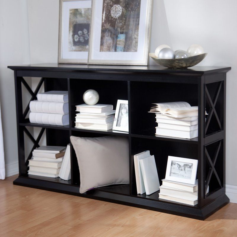 Belham Living Hampton TV Stand Bookcase Black KY049 BK NEW