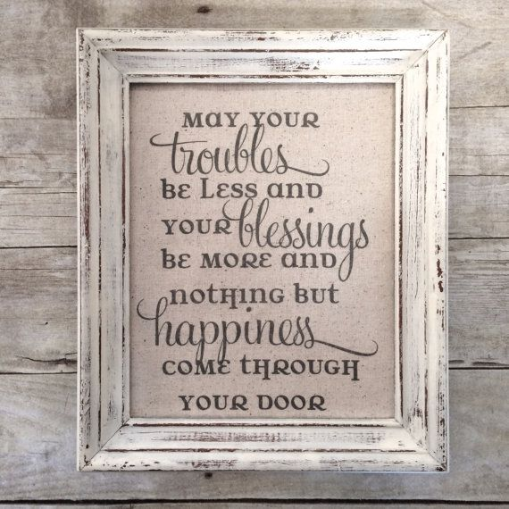 Irish Wedding Blessing Gifts: May Your Troubles Be Less And Your Blessings Be More