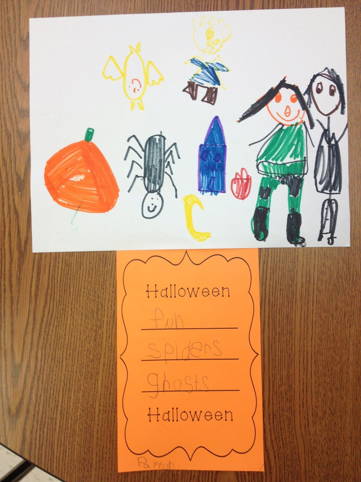 Halloween Poem And Illustrations By Kindergarten