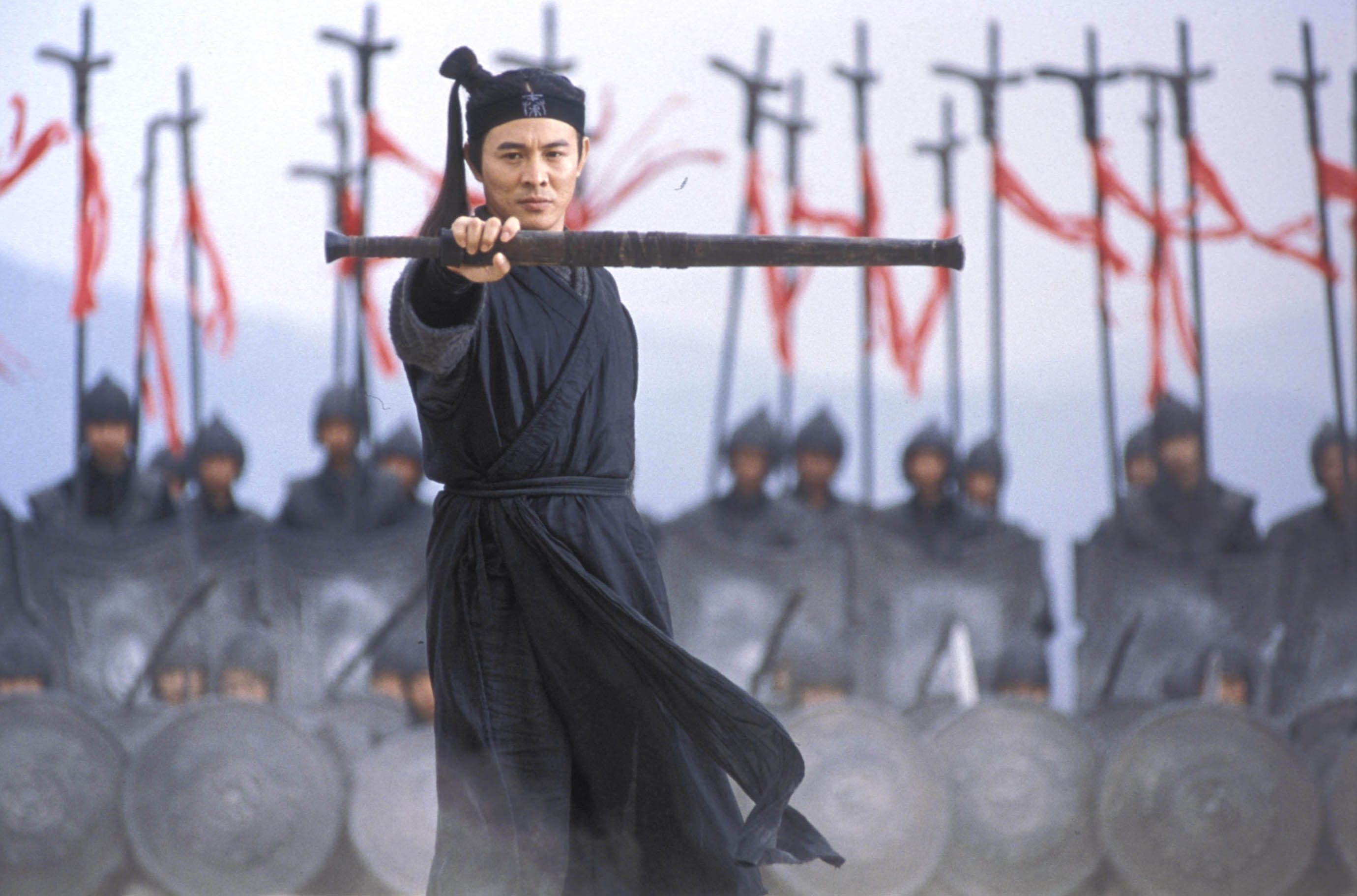 This Is A Scene From Hero Here Is Jet Li Putting Out His Sword