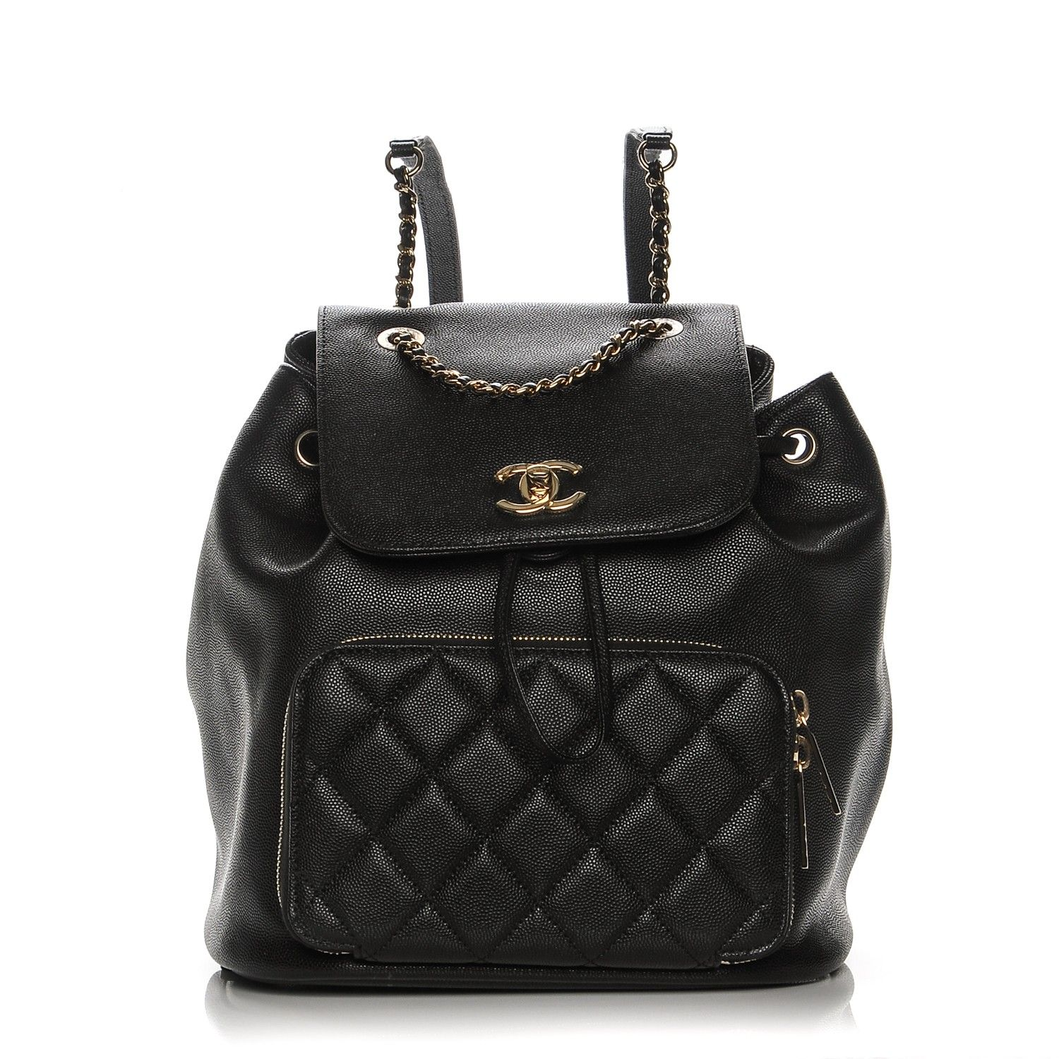 3264b589a980 This is an authentic CHANEL Caviar Quilted Business Affinity Backpack in  Black. This stylish backpack is beautifully crafted of caviar leather in  black.