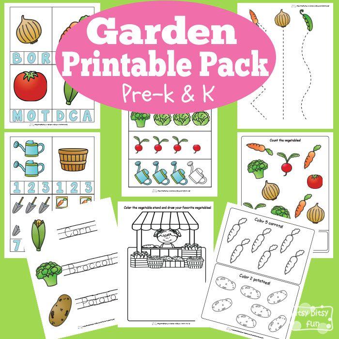 Garden Printable Preschool and Kindergarten Pack