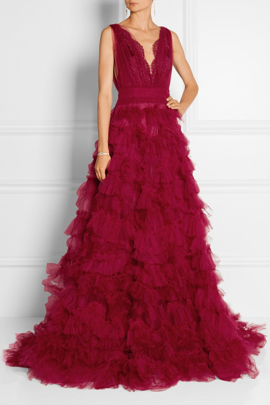 Marchesa   Embellished lace and tulle gown   NET-A-PORTER.COM Like a ...