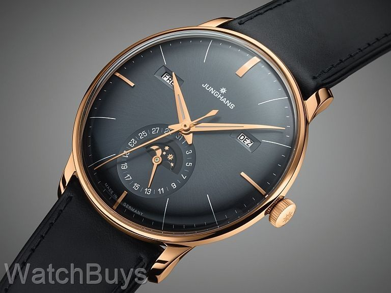 Junghans Meister Kalendar Moon Anthracite Rose Gold Pvd Junghans Watch Luxury Watches For Men Watches For Men
