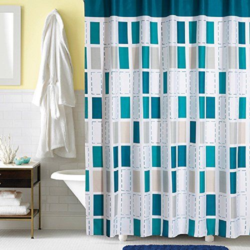 Ufaitheart Modern Checkered Fabric Shower Curtain Liner Shower
