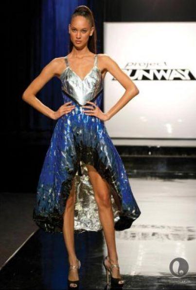 project runway blue duct tape dress - | Costume design | Pinterest