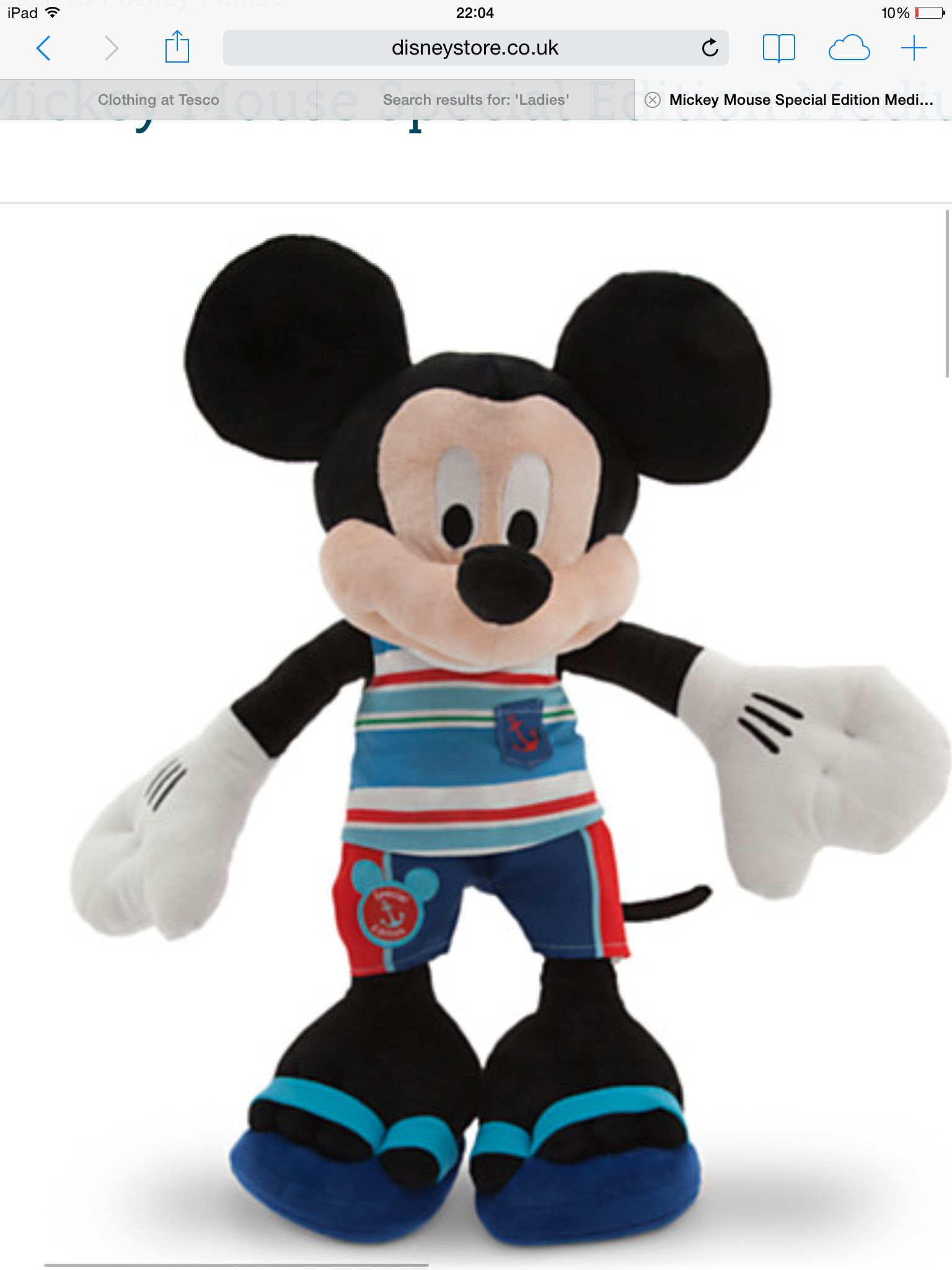 eea2acd0419 Beach mickey Disney Plush